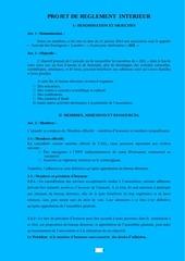 projet reglement int