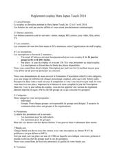 reglement cosplay hjt 2014