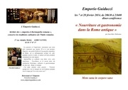 conference nourriture et gastronomie dans rome antique