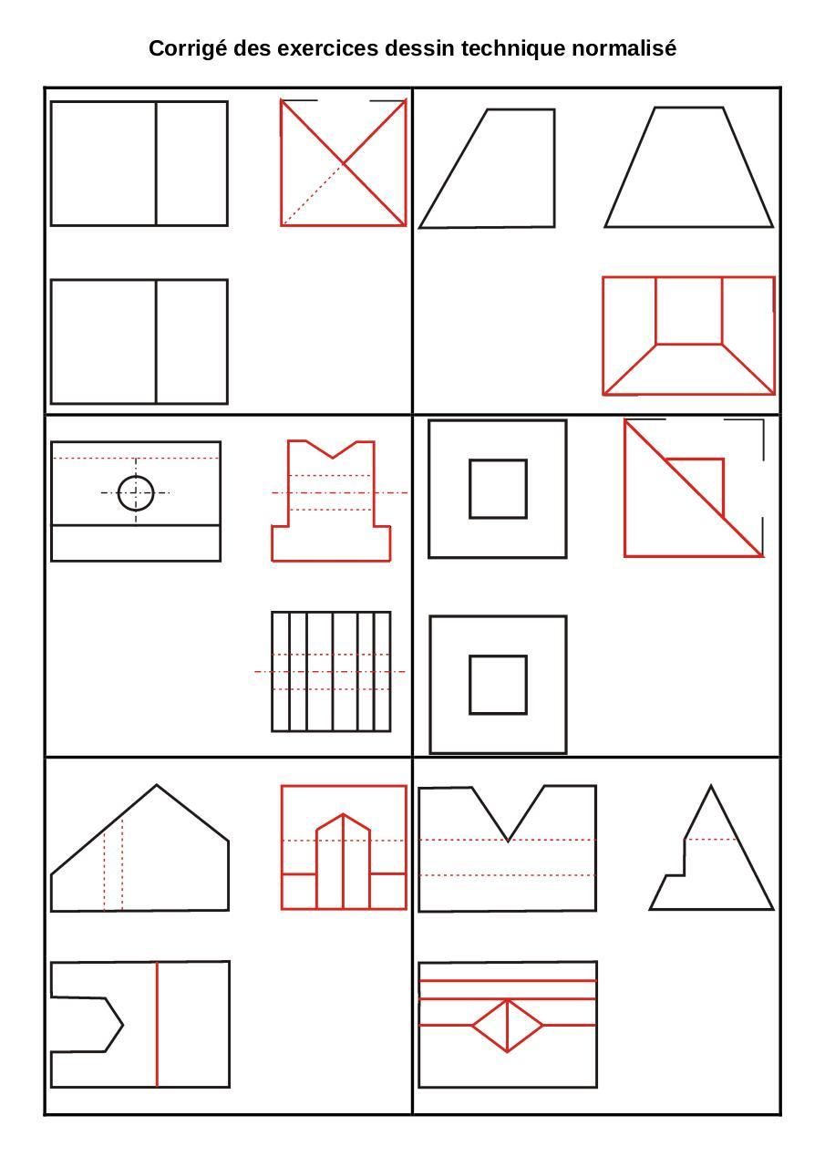 Exercices dessin technique normalise corrige par X ...