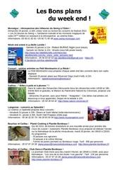 les bons plans du week end semaine n 4 5 2014