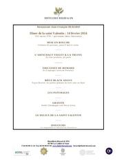 menu de la st valentin hostellerie berard 2014 gastro
