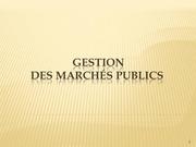 cours les marches publics hassania