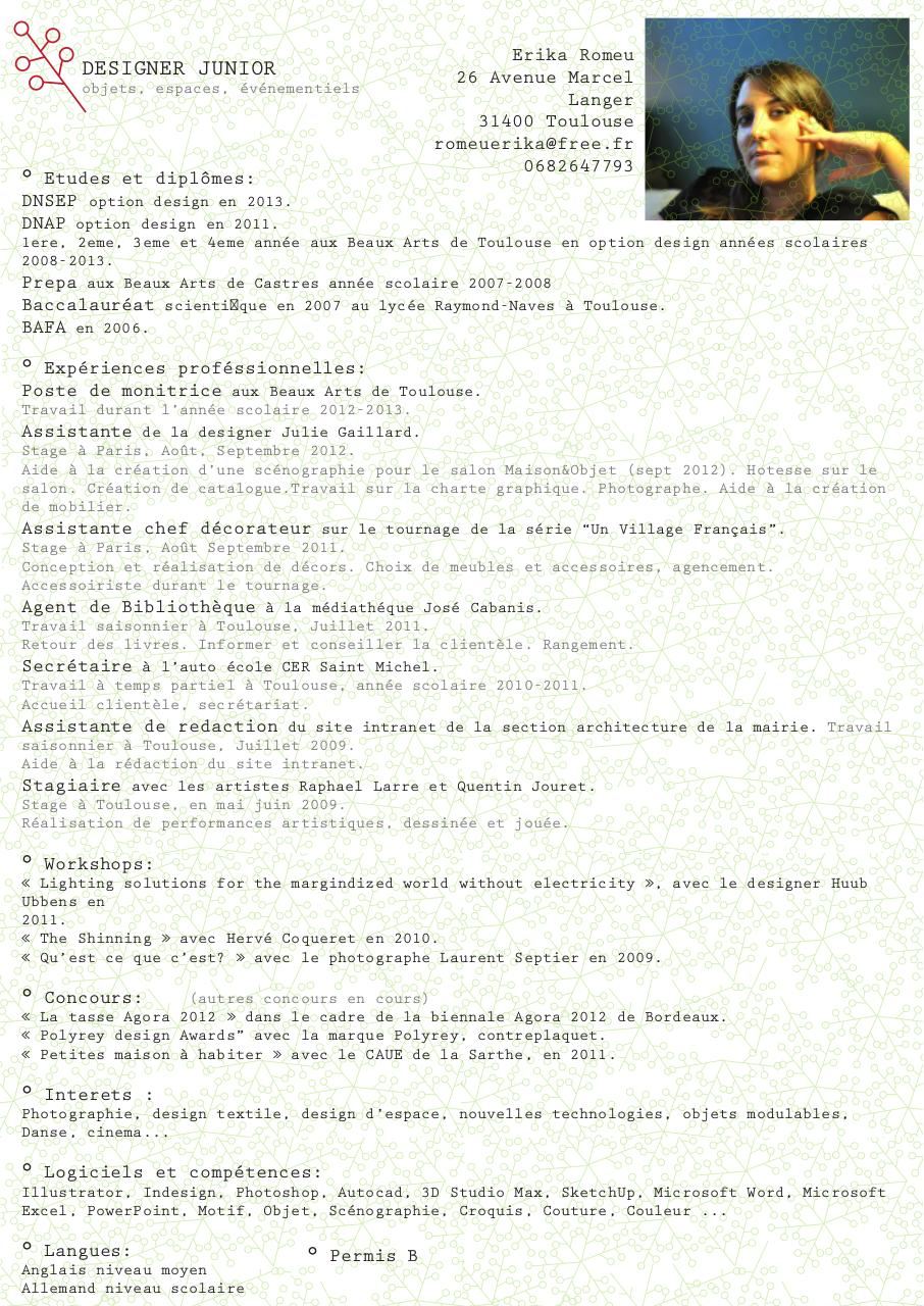 cv designer junior - page 1  1