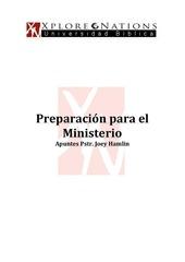 05 apuntes pstr joey hamlin preparativos para el ministerio enero 2013