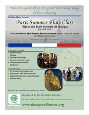 paris flute class poster july 2014