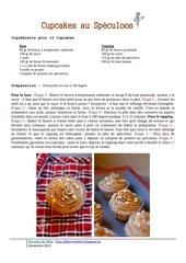Fichier PDF cupcakes au speculoos