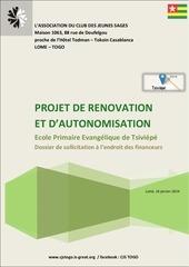 dossier recolte de fonds renovation ecole primaire tsiviepe