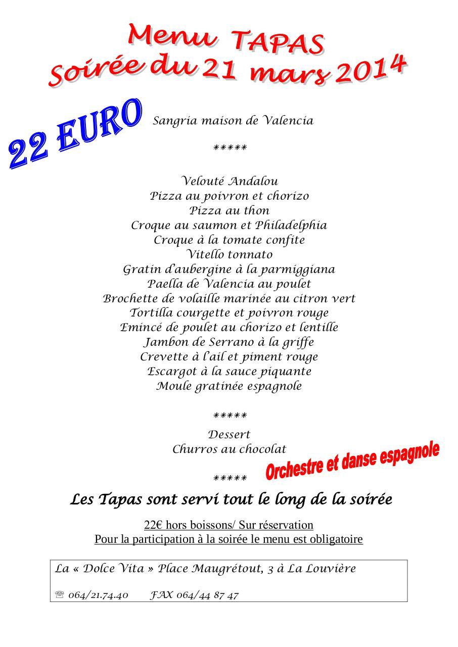 Menu 21 03 14 soirée espagnole par Santoro - Fichier PDF | 768 x 1024 jpeg 108kB