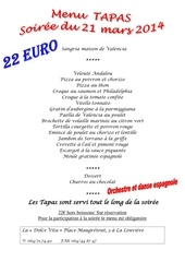 menu 21 03 14 soiree espagnole