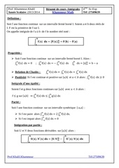 resume cours integrales bac sc exp