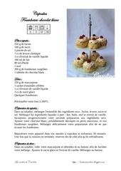 cupcakes framboises chocolat blanc et goodies