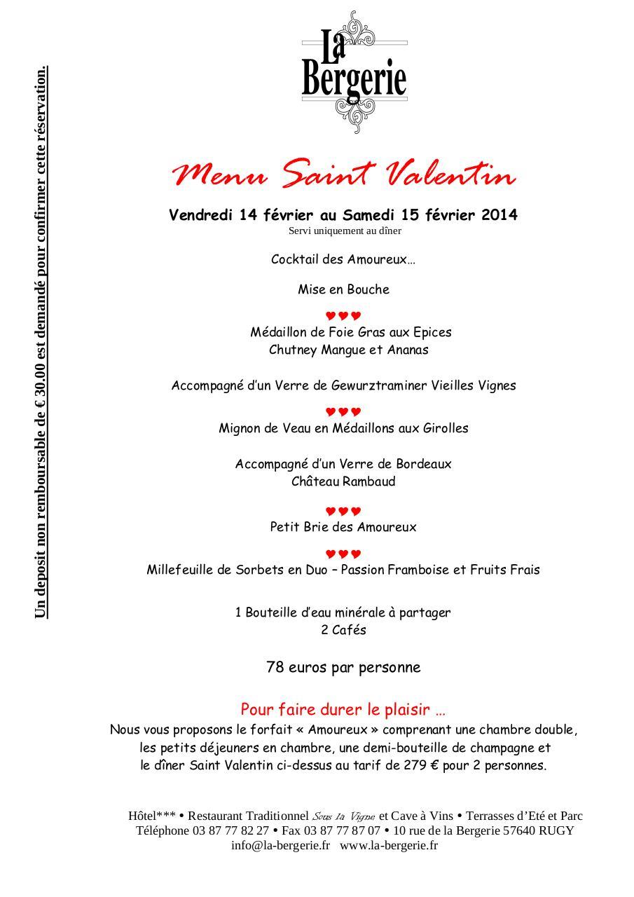 menu saint valentin 2014 par internet fichier pdf. Black Bedroom Furniture Sets. Home Design Ideas