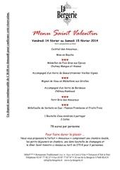Fichier PDF menu saint valentin 2014