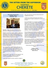 the newsletter of the governor january 2014