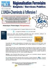 unsa communication paris regionalisation ferroviaire janvier 2014