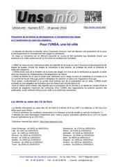 unsa info n 677 du 28 janvier 2014