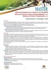 informationmaster viticulture et environnement