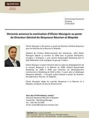 olivier mourguin directeur general nespresso reunion