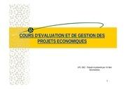 cours evaluation des projets s1
