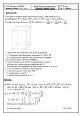 exercices corriges geometrie dans l espace bac sc exp