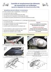 controle et remplacement des elements de transmission
