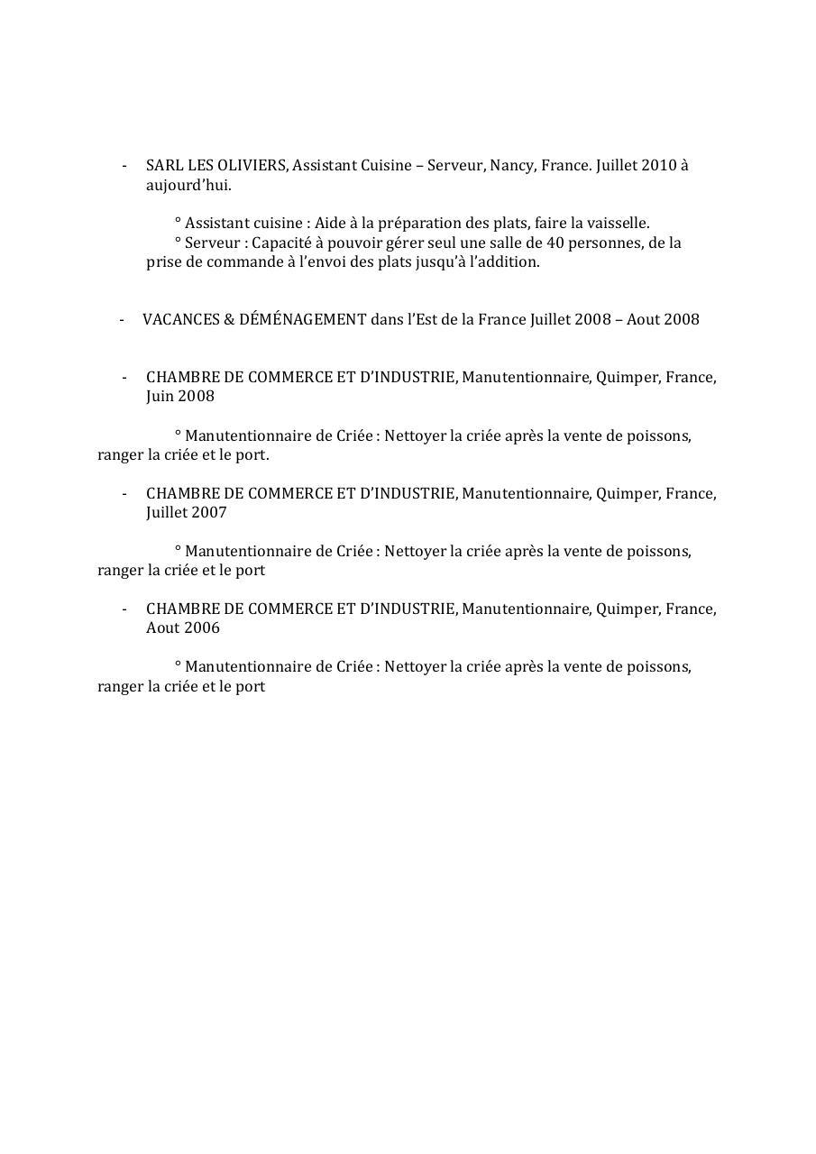 cv le goff mahtieu eic docx par spotlight - cv gabarit mise en ligne pdf