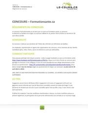 lcaformationsante reglement concours fevmarsavril2013