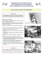 remplacement et purge du circuit de refroidissement