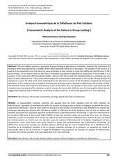 analyse econometrique de la defaillance du pret solidaire