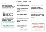 menu service traiteur