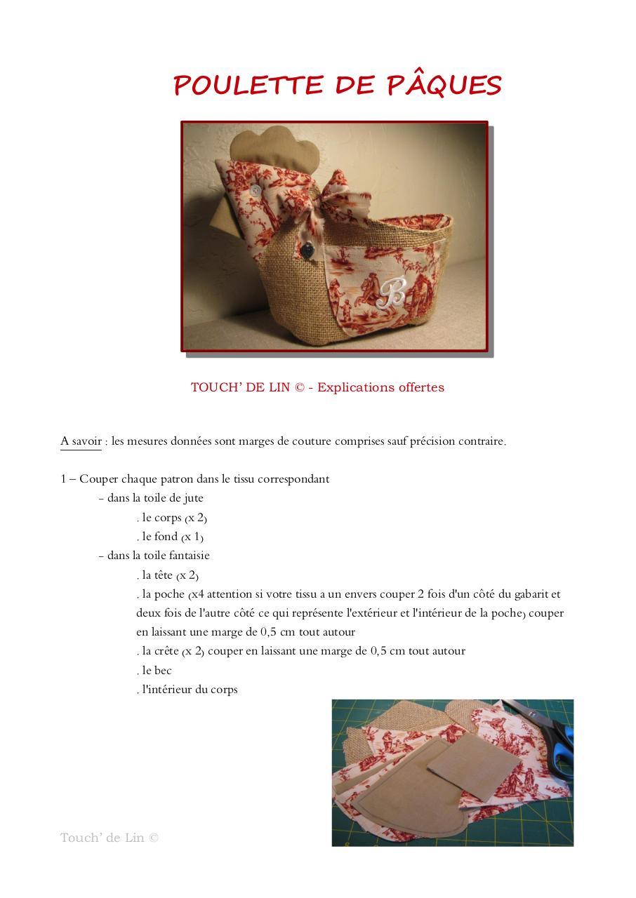 Aperçu tuto poulette de Pâques.pdf - Page 1/12