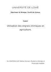 Fichier PDF expose utilisation des engrais chimiques en agri