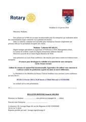 invitation rotary vendome