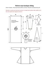 Fichier PDF patron sous tunique viking 1