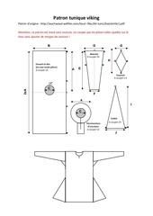 Fichier PDF patron tunique viking