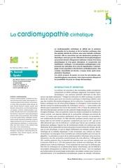 rms la cardiomyopathie cirrhotique