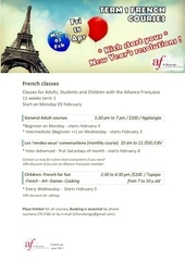 term 1 french classes 2014