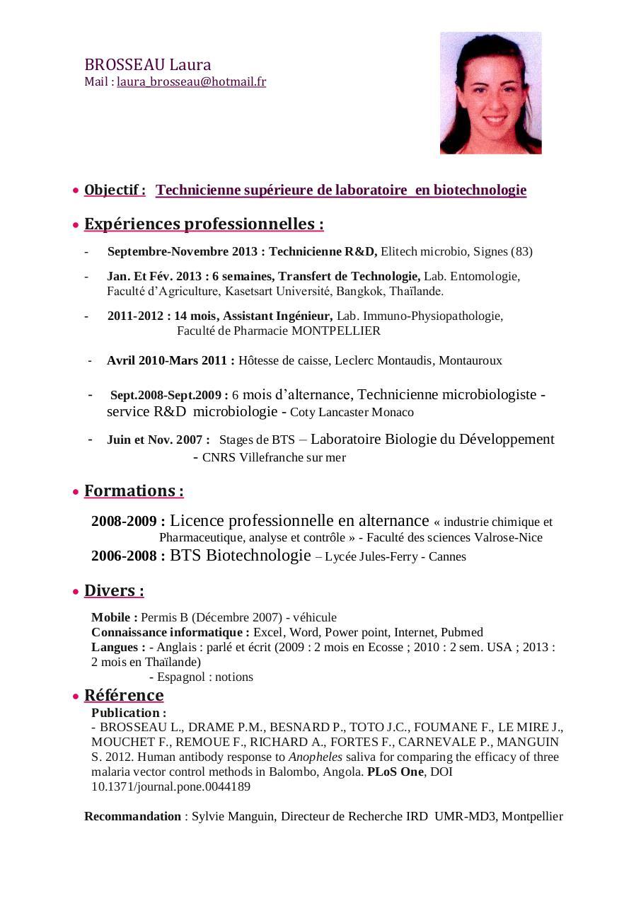 curriculum vitae par laura - cv brosseau laura 2014 f pdf