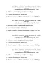 examen de deuxieme session de semestre 1 de m1