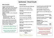 menu service traiteur