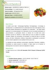 Fichier PDF cv societe univers de l agriculture s a