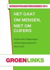 verkiezingsprogramma groenlinks wageningen 2014 2018