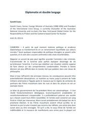 Fichier PDF diplomatie et double langage