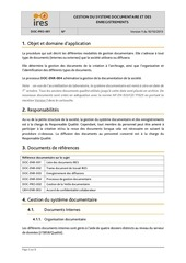 DOC-PRO-001 Gestion systeme documentaire IRES v1.pdf - page 3/8