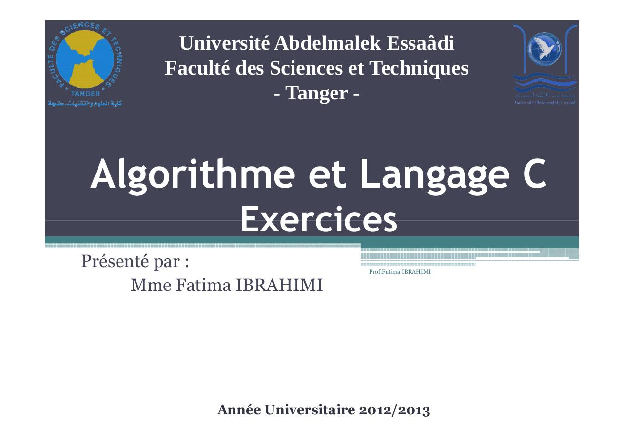 Algorithme - Exercices.pdf - page 1/74