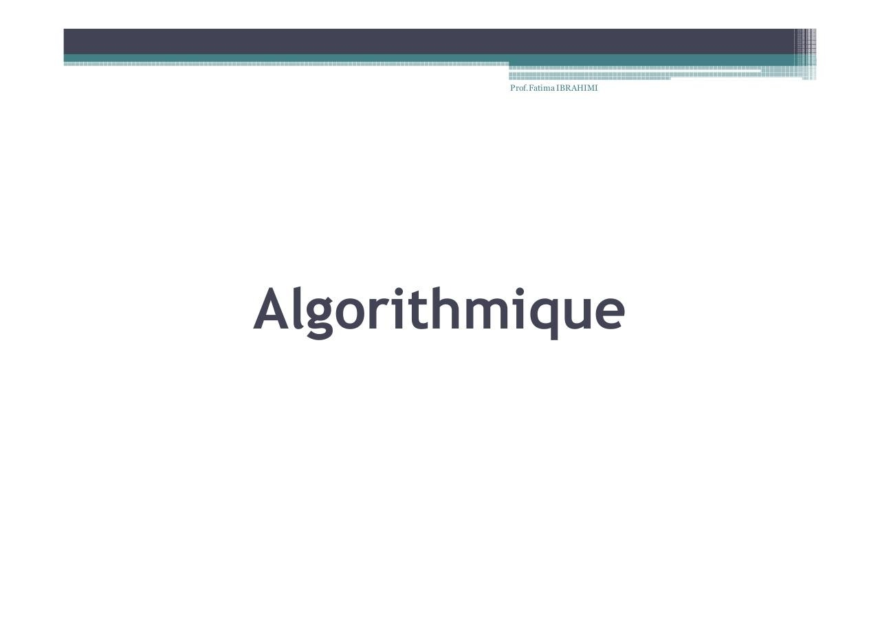 Algorithme - Exercices.pdf - page 2/74