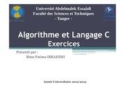 Fichier PDF algorithme exercices