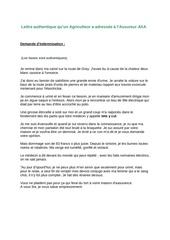 Fichier PDF lettre axa