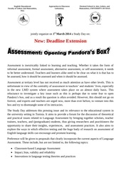 cfp on assessment flshs deadline extension